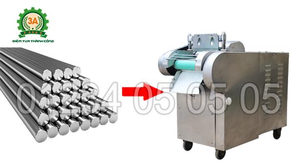 Vỏ máy thái rau củ quả 3A1,5Kw (dùng băng tải) được làm bằng chất liệu inox