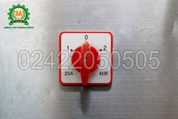 Núm điều chỉnh chế độ thái lát hoặc thái sợi của Máy thái lát, sợi rau củ quả 3A