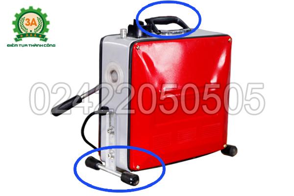Máy thông cống GQ150 3A900W có thiết kế tay cầm và chân đế tiện dụng
