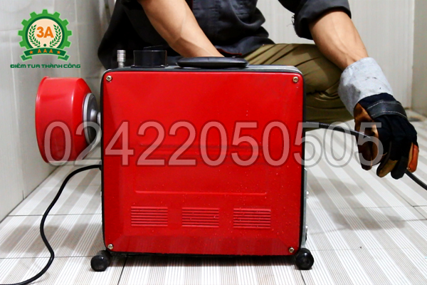 Máy thông cống 3A phù hợp sử dụng trong hộ gia đình, nhà hàng, khách sạn…vv