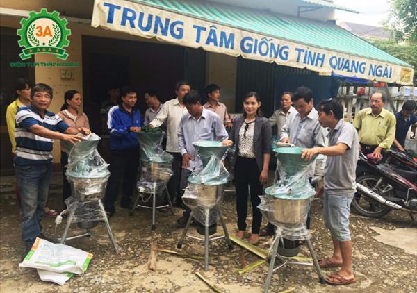 Chuyển giao máy chế biến thức ăn chăn nuôi 3A2,2Kw tại Quảng Ngãi