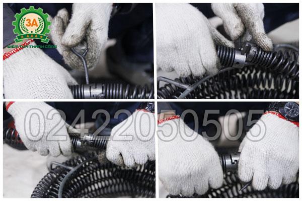 Tháo lắp dây lò xo máy thông tắc 3A GQ200