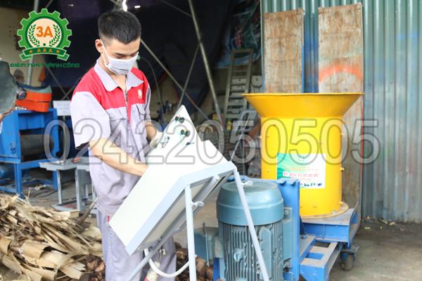 Tủ điện đi kèm máy xay xơ dừa, rơm rạ 3A15Kw