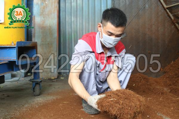 Máy xay xơ dừa, rơm rạ 3A15Kw giúp xay xơ dừa hiệu quả