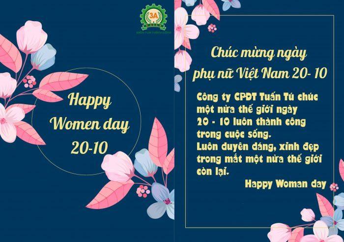 3A chúc mừng ngày phụ nữ Việt Nam 20/10