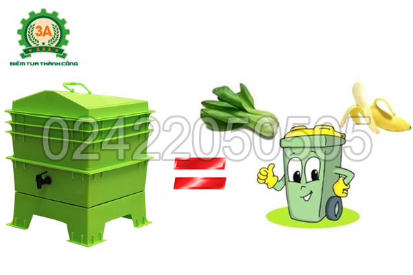 Khay nuôi giun quế 3A giúp tận dụng rác nhà bếp hiệu quả