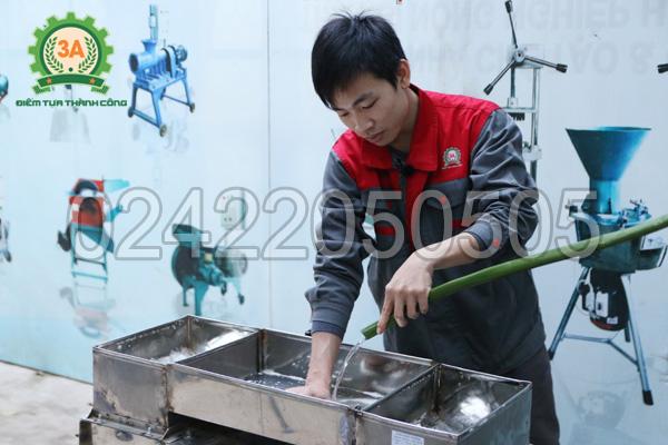 Máy thái cá 2 đầu cắt 3A4Kw vệ sinh rất dễ dàng