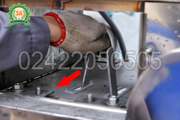 Hệ thống cần số của máy thái cá 2 đầu cắt 3A4Kw