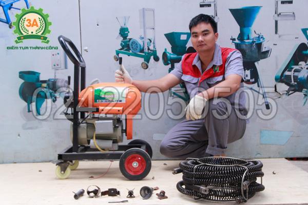 Máy thông cống lò xo 3A GQ1200 có chất liệu chế tạo chính từ gang đúc chắc chắn