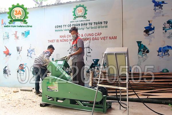 Máy băm gỗ 3A11Kw được trang bị tủ điện bảo vệ động cơ