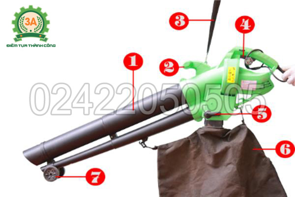 Hình ảnh cấu tạo máy thổi lá, hút lá cây 3A