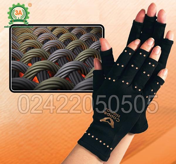 Găng tay bảo vệ 3A có cấu tạo gồm các sợi cotton thấm đồng