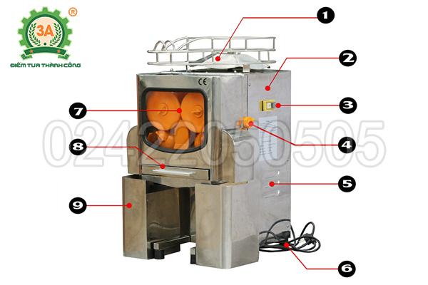 Cấu tạo của máy vắt nước cam 3A