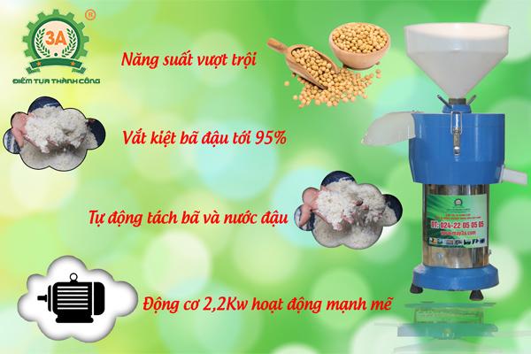 Máy xay sữa đậu nành 3A2,2Kw tự động tách bã và nước đậu