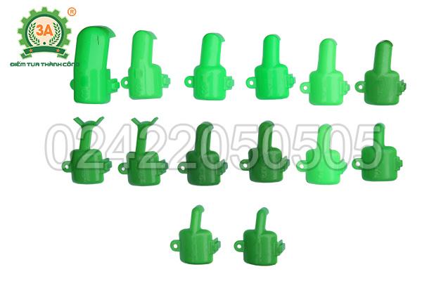 Bộ muỗng gieo hạt từ to đến nhỏ của máy gieo hạt đa năng 3A