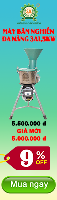 khuyến mãi máy băm nghiền đa năng 3A1,5Kw
