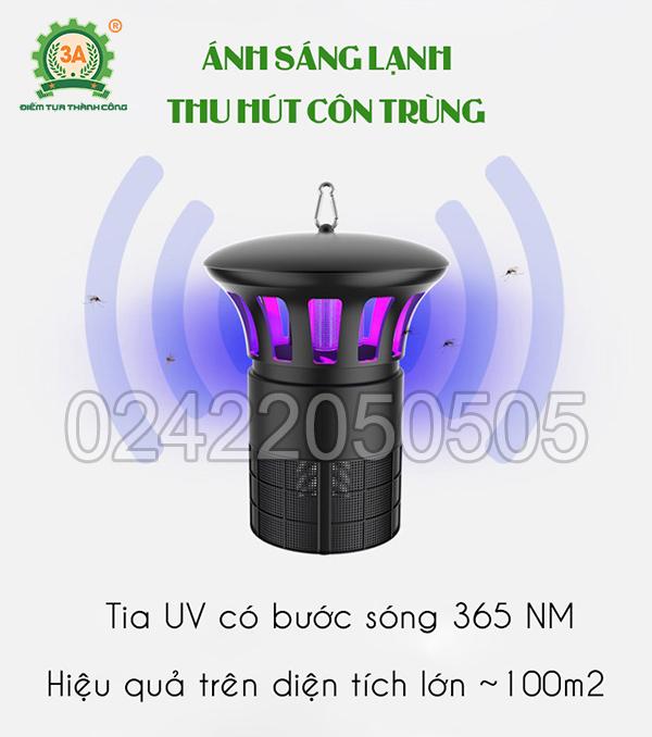 Đèn bắt côn trùng công nghiệp 3A sử dụng tia UV có bước sóng 365nm