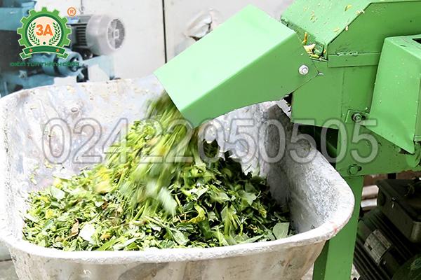 Cửa ra sản phẩm cỏ băm nhỏ của máy băm cỏ, băm rau củ 3A3Kw