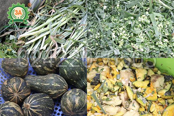 Máy băm cỏ, băm rau củ 3A3Kw băm được đa dạng nguyên liệu