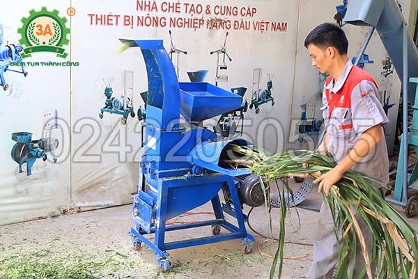 Máy băm cỏ, nghiền ngũ cốc 3A4Kw có cửa nạp và cửa ra độc lập