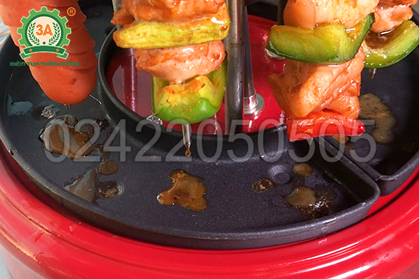 Bếp nướng BBQ 3A giúp loại bỏ lượng lớn mỡ thừa trong quá trình nướng