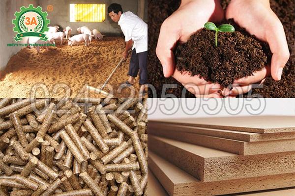 Ứng dụng đầu ra của máy băm gỗ 3A55Kw