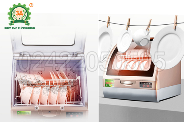 Nhiệt độ nước của máy rửa bát 3A1200W đạt 70 độ C
