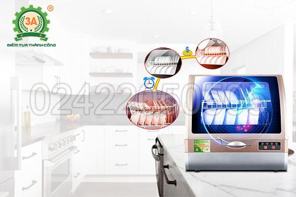 Sử dụng Máy rửa bát gia đình 3A1200W giúp bạn tiết kiệm tiền bạc và thời gian