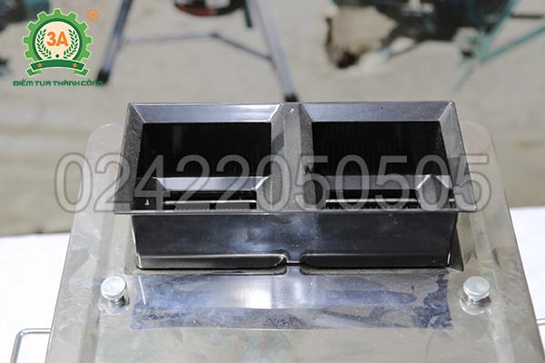Máy thái thịt đa năng 3A850W có thiết kế 2 cửa nạp nguyên liệu