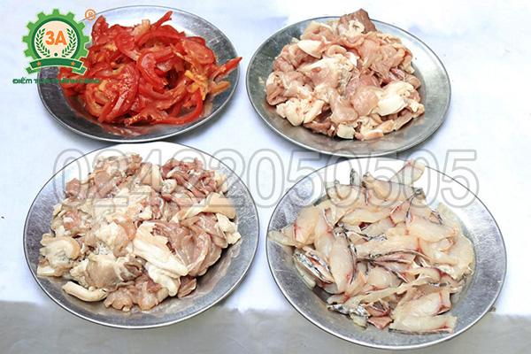 Máy thái thịt đa năng 2 cửa nạp 3A850W thái đa dạng các loại nguyên liệu