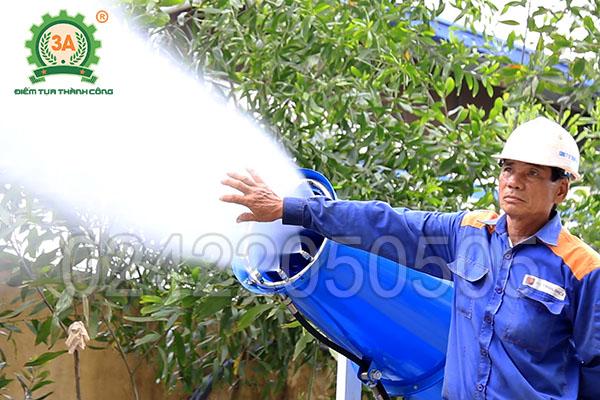 Bàn giao máy phun sương dập bụi 3A8Kw (07)