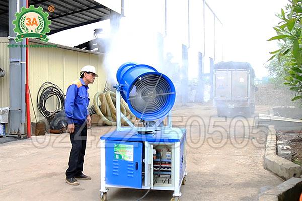 Bàn giao máy phun sương dập bụi 3A8Kw (10)