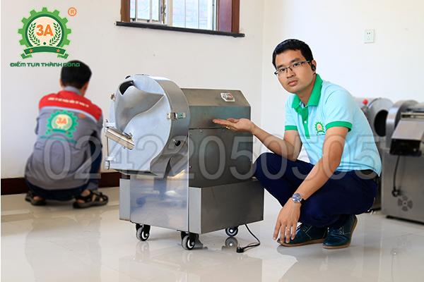 Máy cắt rau củ công nghiệp 3A1,5Kw (04)