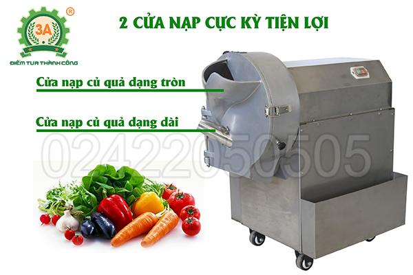 Máy cắt rau củ công nghiệp 3A1,5Kw (10)