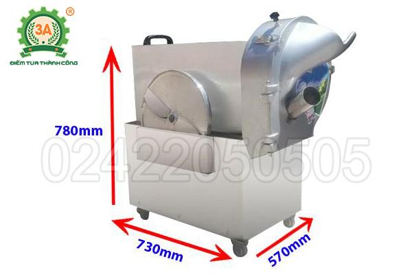 Máy cắt rau củ công nghiệp 3A1,5Kw (12)