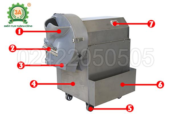 Máy cắt rau củ công nghiệp 3A1,5Kw (13)