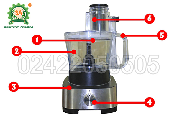 Máy cắt rau củ quả đa chức năng 3A600W (14)