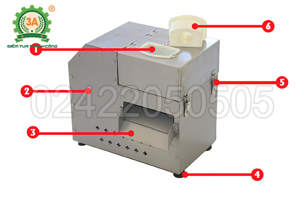 Máy cắt rau củ hạt lựu 3A550W (10)