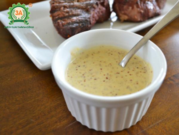 Cách làm nước sốt bò bít tết: Nước sốt Super-swift mustard sauce