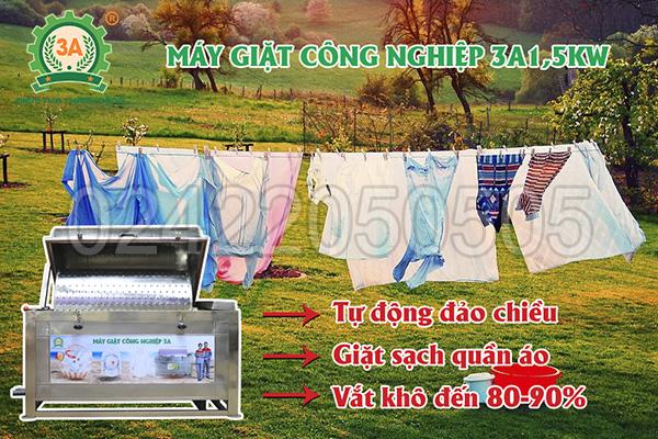 Máy giặt công nghiệp 3A1,5Kw (07)