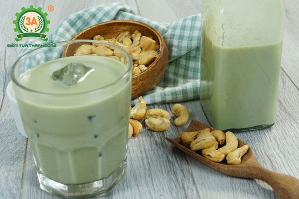 Cách làm sữa đậu xanh hạt điều