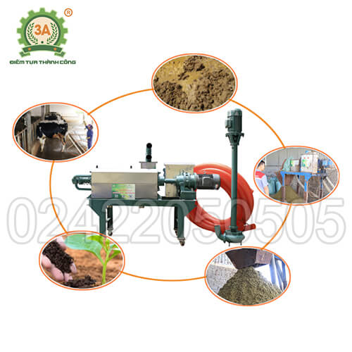 máy tách ép chất thải chăn nuôi 3A7kW