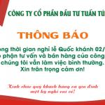 Thông báo lịch nghỉ lễ Quốc Khánh 02/09/2020