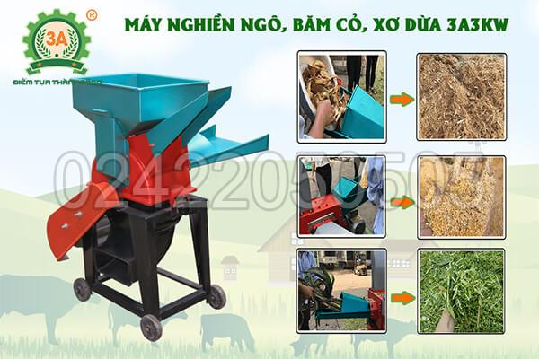 máy nghiền ngô, băm cỏ, xơ dừa 3A3kW