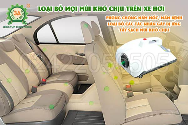 Máy khử mùi diệt khuẩn ô tô 3A1500W (06)