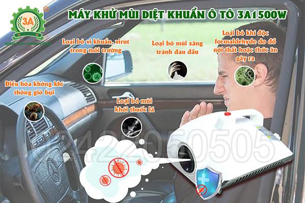 Máy khử mùi diệt khuẩn ô tô 3A1500W (07)