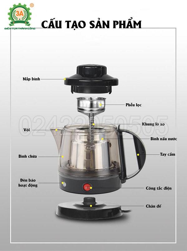 Máy pha trà, nấu nước linh chi 3A (14)