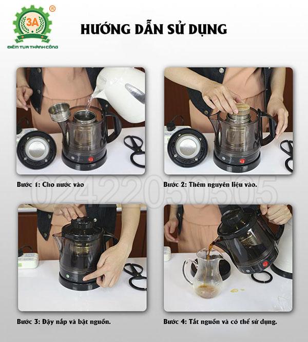 Máy pha trà, nấu nước linh chi 3A (15)