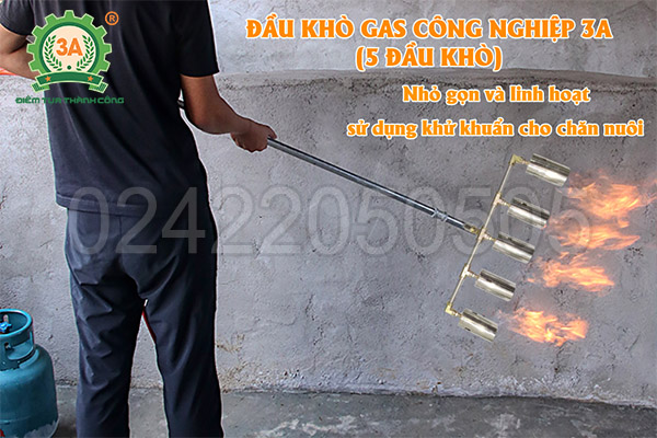 Đầu khò gas công nghiệp 3A 5 đầu khò (05)