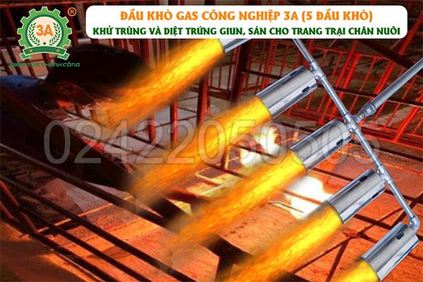 Đầu khò gas công nghiệp 3A 5 đầu khò (11)